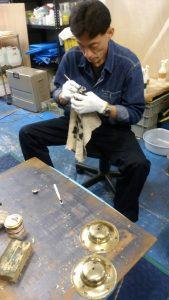 真鍮仏具の磨き
