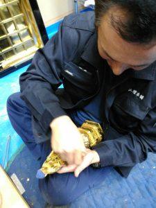 仏像,洗浄,金箔,補修