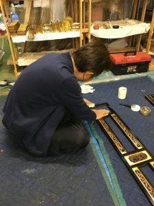 仏壇,漆,磨き
