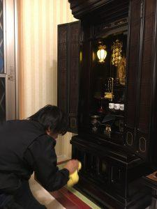 仏壇,クリーニング,【納品作業】