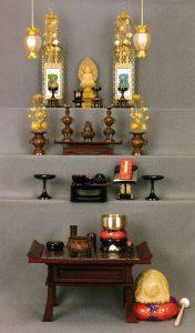 曹洞宗,仏壇の飾り方