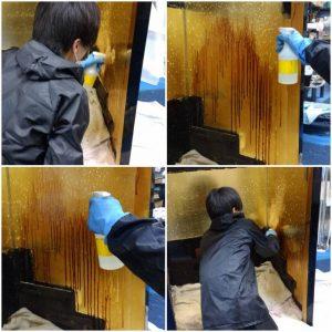 【仏壇洗浄業者】金箔はふとした事で簡単に剥がれて真っ黒な下地が見えるようになってしまいます。剥がれた金箔は新たに貼って修復するしかありません。お仏壇の部品ごとに分解し、1つずつ心をこめて金箔の貼り直しを行います。お預かりしたお仏壇は丁寧に分解します。柱から屋根から、そして扉などについている全ての金具を取りはずします。 細かいところまでキレイに磨けるようにここからさらに分解します。漆塗り・金箔・銘木というお仏壇の素材の良さを生かし一つずつ丁寧に仏壇クリーニングし、本来の素材の良さをよみがえらせていきます。